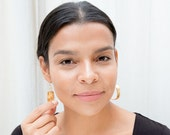 Small Poetic Gold Hoops
