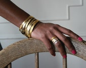Hand Etched Gold Plated Brass Bangle- 1 single bangle