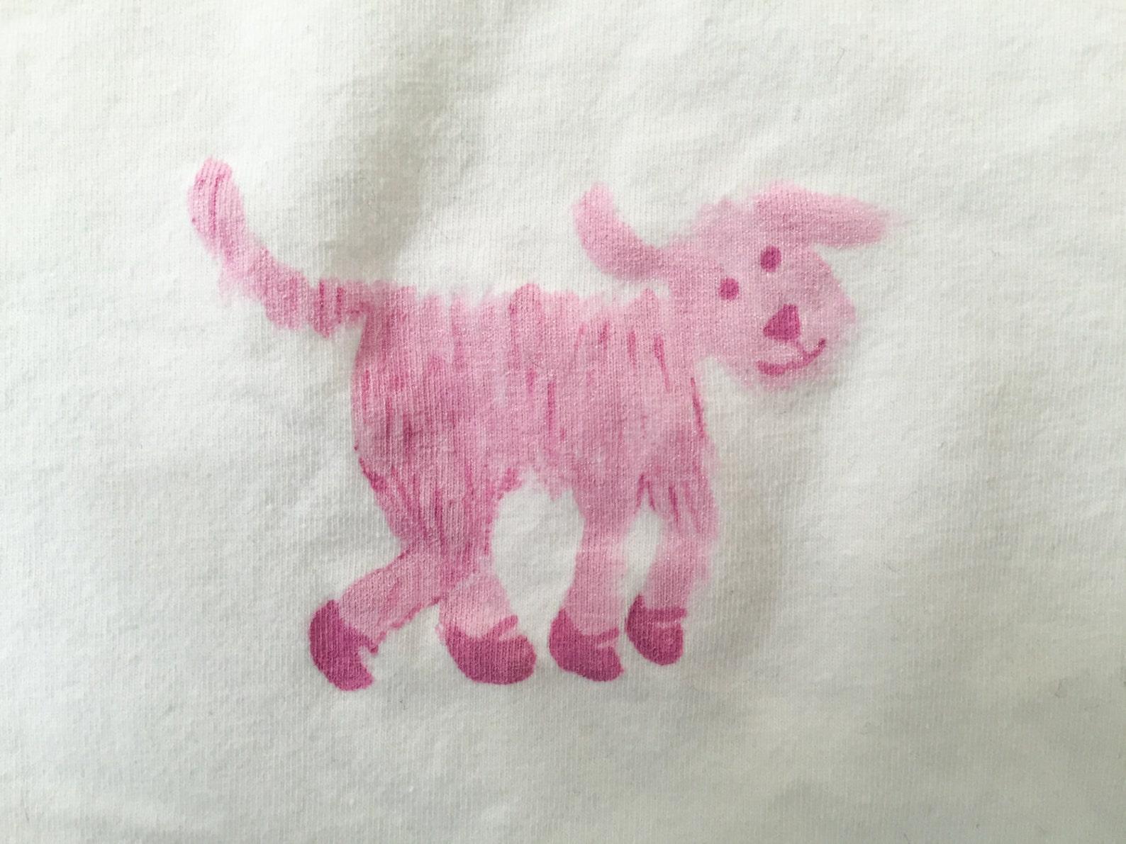 cute little girls shirt, cotton kids tshirt, cute girl's t-shirt, pink t-shirt, t-shirt with dog, ballet shoes