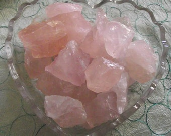Raw Rose Quartz Anointed with Rose Absolute & Neroli essential oil  rough rose quartz