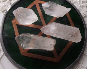 Beautiful Chunks of Quartz Crystal - Charged on my green glass and copper healing grid Anointed with Lime Essential Oil