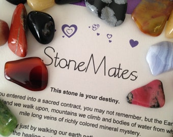 StoneMates: This Stone is Your Destiny  Stones, Crystals Gemstone Gift Metaphysical, Soulmate   Easter Bunny Basket Gift, Ostara Gift