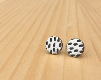 stitch studs   stud earrings   everyday studs   jewelry for her