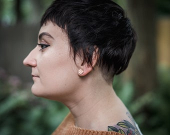hammered stud earrings | stud earrings | sterling silver stud earrings  | jewelry for her