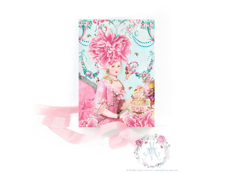 Marie Antoinette card Wallflower French Rococo Let them image 0