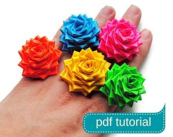DIY Duct Tape Flower Ring Tutorial PDF