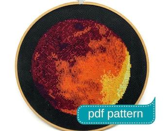 Mars Cross Stitch Pattern Download PDF - Counted Cross Stitch Pattern - PDF Pattern