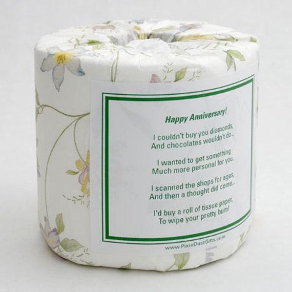 Anniversary Toilet Paper Card Printable Pdf Etsy