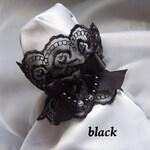 PEARL RIBBON Jewellery Wrist Cuffs- Dark and Bright Colours