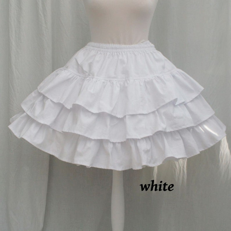 RUFFLE SKIRT Cotton Tiered Petticoat All Colours image 0