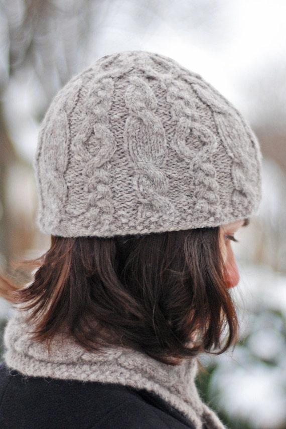 Hiawatha Cable Hat Knitting Pattern Etsy