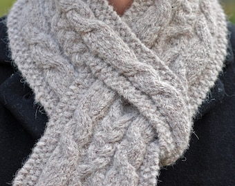 Hiawatha Pull-Through Cable Scarf - Knitting Pattern