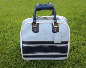 vintage 2 BLUES bowling ball bag