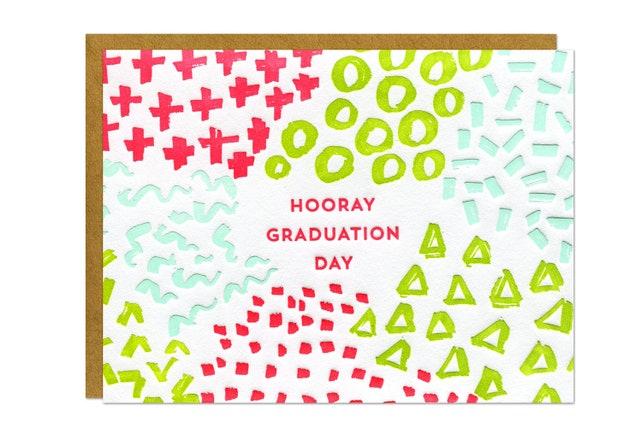 Hooray Grad Letterpress Card