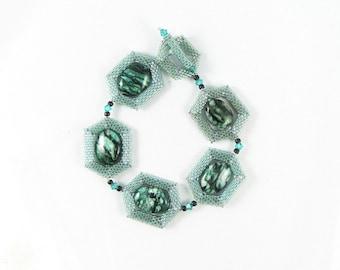 Teal Green Jadeite Links