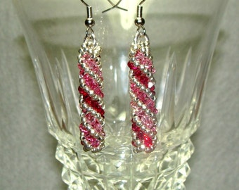 Tri-Color Pink Earrings
