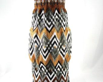 Golden Brown and Grey Vase