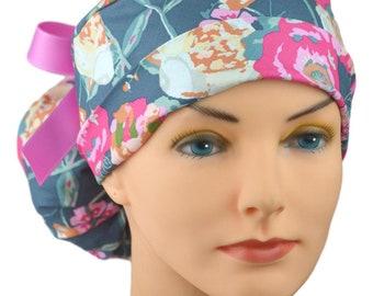 018d804d9a3 The Perfect Fit Ponytail Scrub Hat Original Design Best Fit Ever Pony Pouch  - Trellis Roses