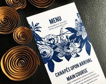 Menu  Parisian Flower Market Wedding Collection - Menu Cards
