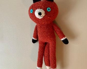 Handmade Amigurumi Crochet Orange Fox