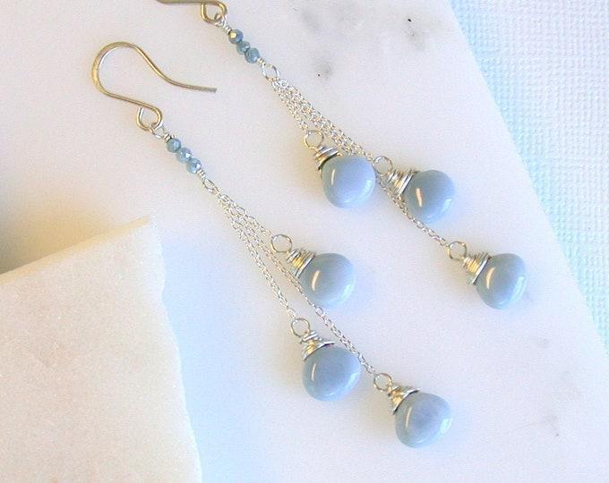 Mexican Blue Opal Fringe
