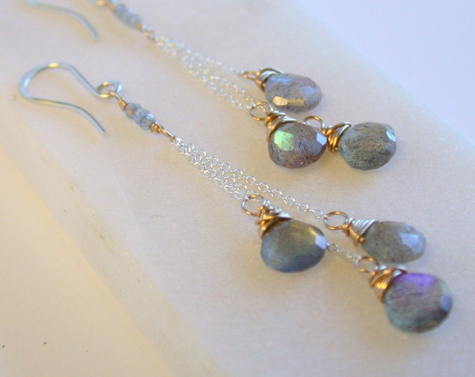 Labradorite Fringe Earrings