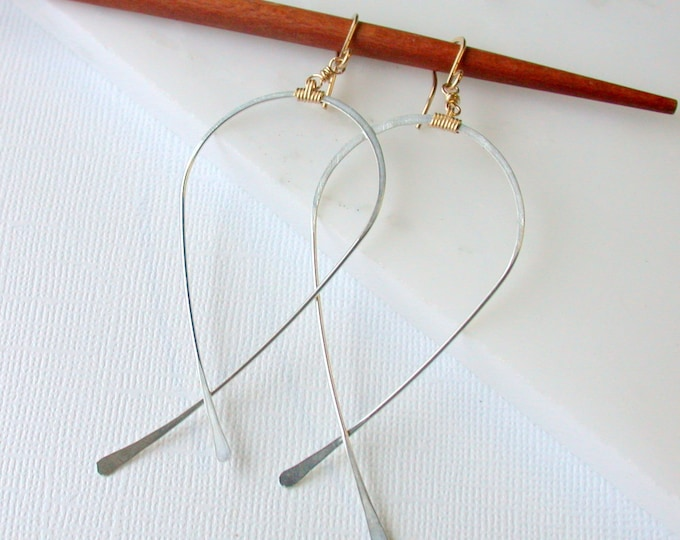 SALE! Inverted Teardrop Hoops