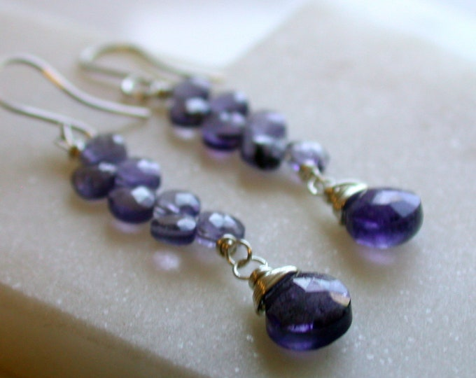 Iolite Ladder Earrings