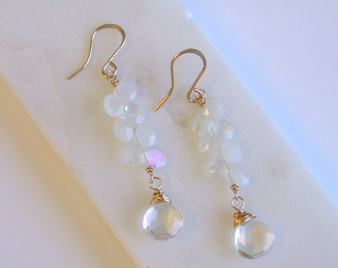 Moonstone Ladder Earrings