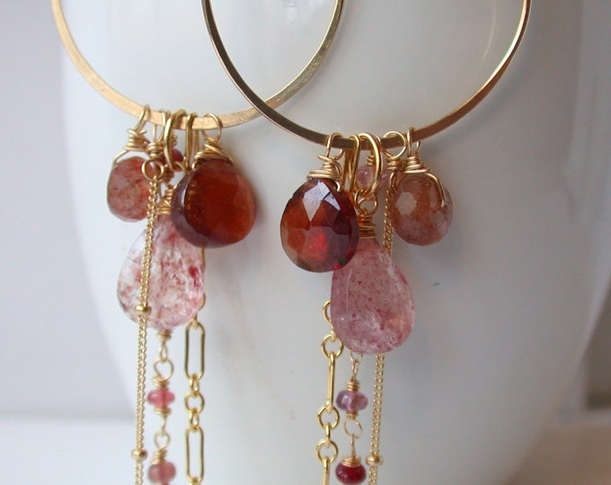 Summer's Blush Gypsy Hoops