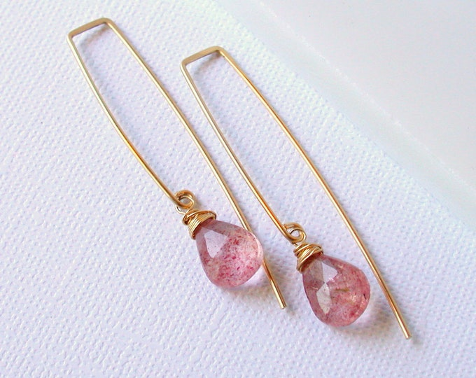 Watermelon Quartz Threaders