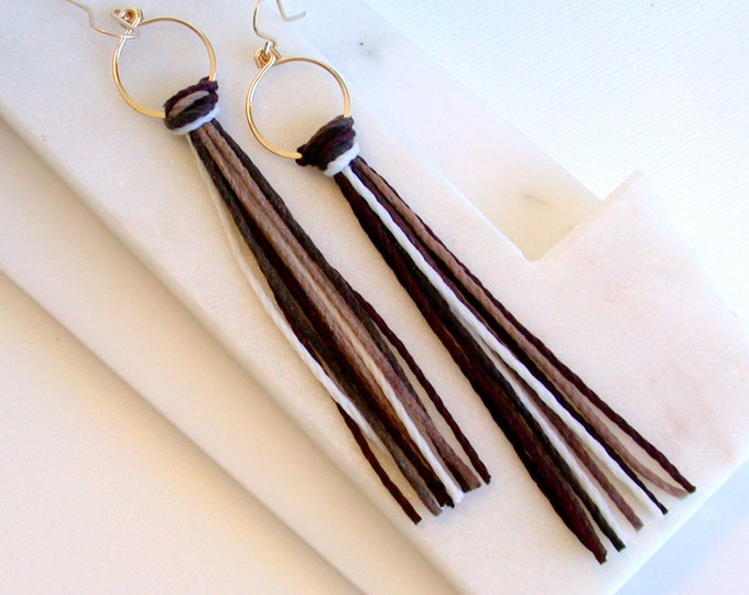 Ombre Fringe Earrings.