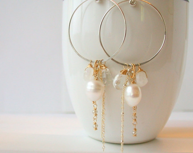 Pearl Gypsy Hoops