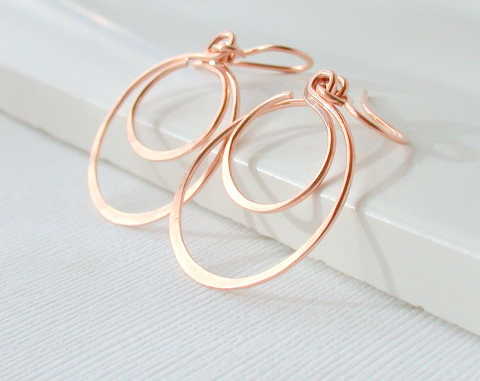 Modern Swinging Double Hoops