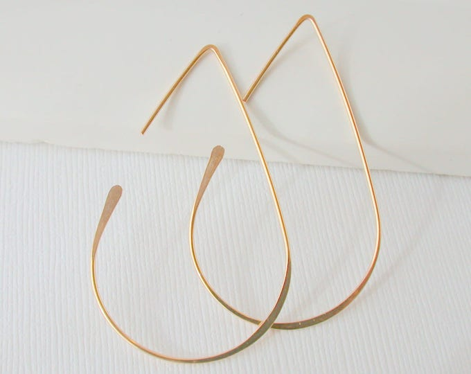 Medium Teardrop Hoops