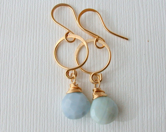 Blue Opal Dangles