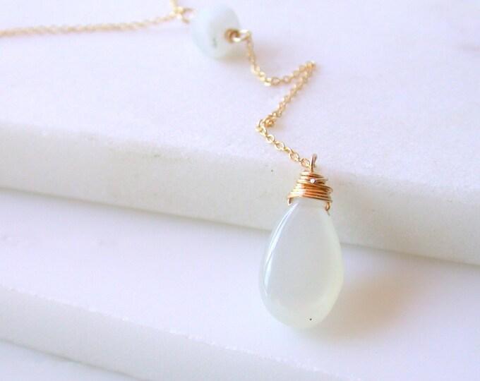 Moonstone Y Necklace