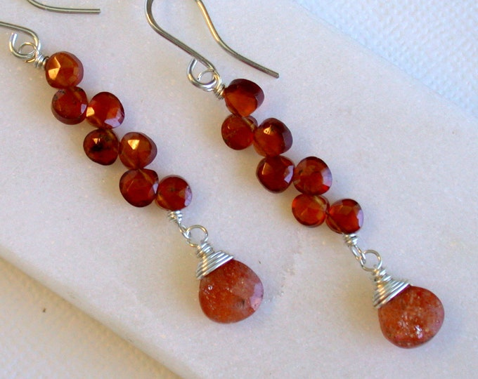 Carnelian Ladder Earrings