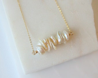 Stacked Pearl Necklace