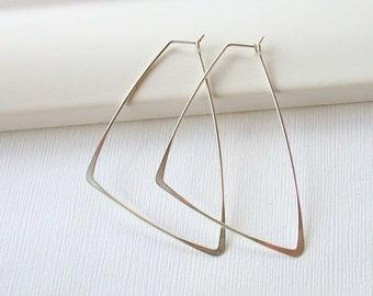Geometric Earrings Large Hoop Earrings Gold Hoop Earrings Silver Hoop Earrings Statement Earrings Rose Gold Earrings Rose Gold Hoop Earrings