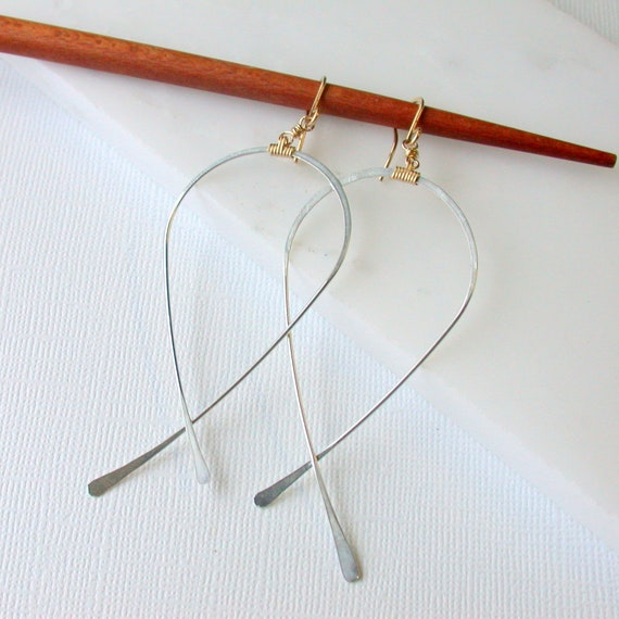 Inverted Teardrop Hoops