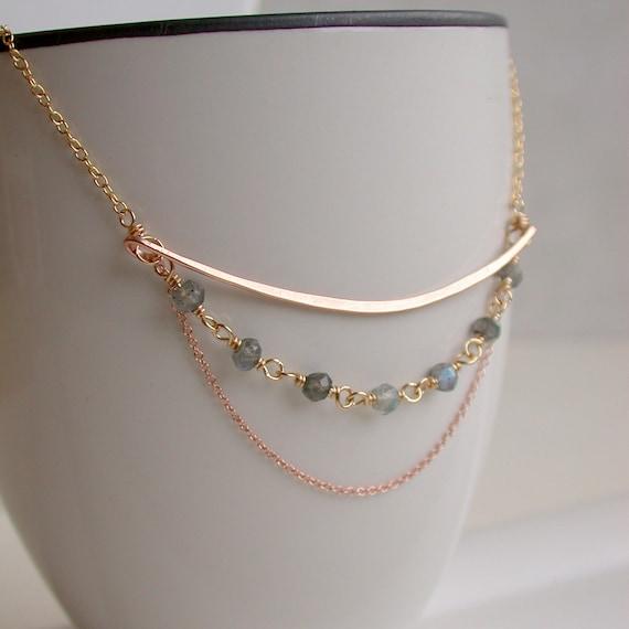 Labradorite Curving Necklace