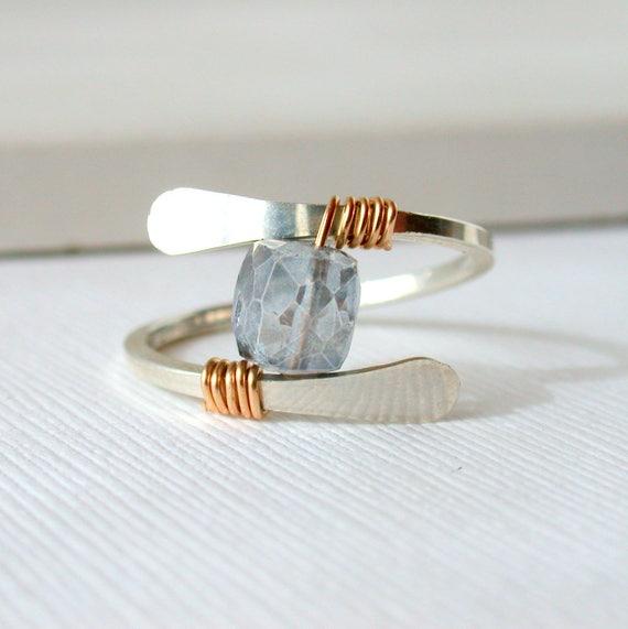 Mystic Blue Quartz Ring