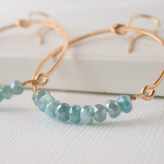 Mystic Amazonite Hoops.