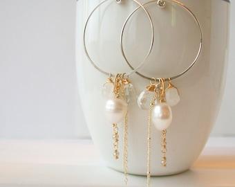 Pearl Gypsy Hoops