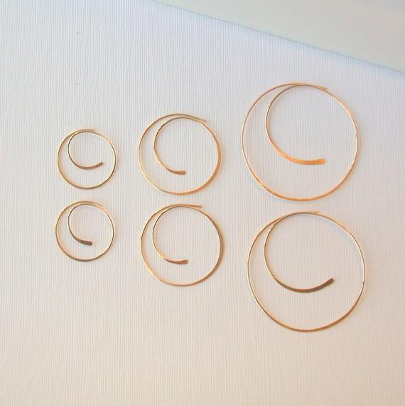 Round Swirl Hoops