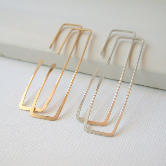 Slim Rectangle Hoops
