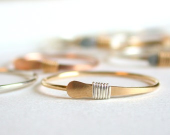 Delicate Simple Stacking Ring. Dainty Stacking Ring. Simple Rose Ring. Simple Stacking Ring. Minimalist Stacking Ring Delicate Stacking Ring