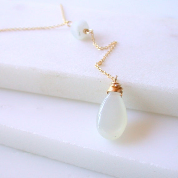 Moonstone Y Necklace