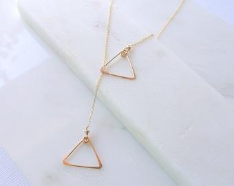 Delicate Gold Y Necklace